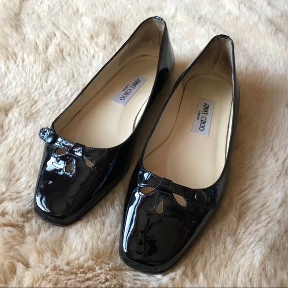15cf01fc6f3d Authentic JIMMY CHOO Black Ballet Flats 39 9 Italy